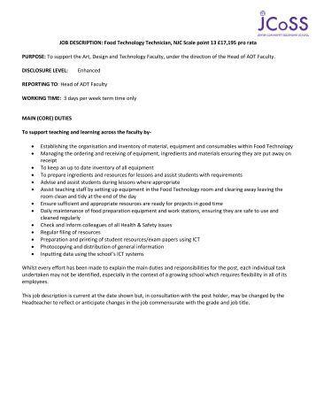 job description and person spec