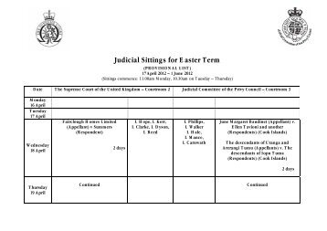 easter term 2012 - The Supreme Court