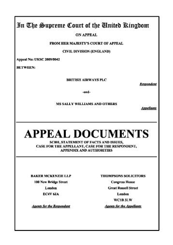 UKSC and JCPC electronic bundle sample - The Supreme Court
