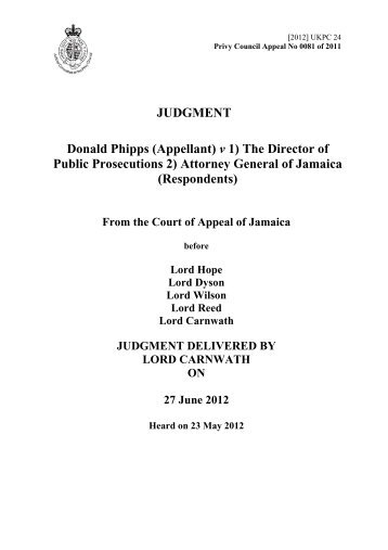 Donald Phipps (Appellant) v 1) The Director of Public Prosecutions 2 ...
