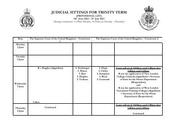 View Trinity term 2013 (PDF) - The Supreme Court