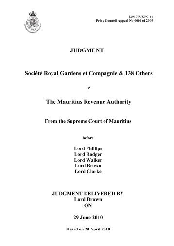 Judgments (PDF) - Judicial Committee of the Privy Council