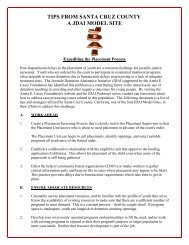 Santa Cruz Coutny CA Placement Process ... - JDAI Helpdesk