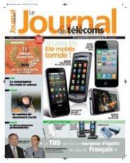 Projet1:Mise en page 1 05/07/2010 15:12 Page 1 - Le Journal Des ...