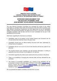 ıntervıew announcement for the 2012-2013 academıc ... - Jean Monnet