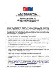 2012-2013 akademik yılı jean monnet burs programı sözlü sınav