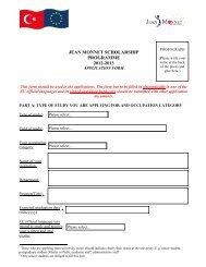 applications. The form - Jean Monnet