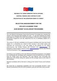 selectıon announcement for the 2012-2013 academıc ... - Jean Monnet