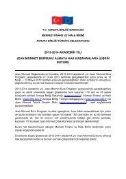 2013-2014 akademik yılı jean monnet bursunu almaya hak ...