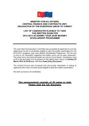 mınıstry for eu affaırs, central fınance and contracts ... - Jean Monnet