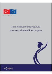2. Jean Monnet Burs Programı 2012-2013 Akademik Yılı