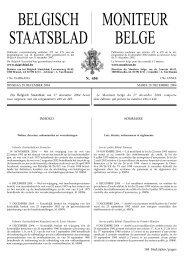 BELGISCH STAATSBLAD MONITEUR BELGE