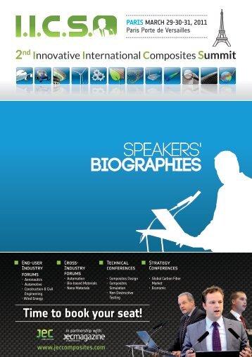 Programme Paris 2011 Bio.indd - JEC Composites