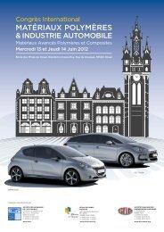 matériaux polymères & industrie automobile - Groupe Français d ...