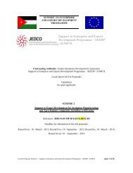 Support to Enterprise and Export Development Programme ... - JEDCO