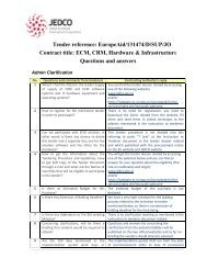 Tender reference: EuropeAid/131474/D/SUP/JO Contract ... - JEDCO