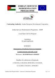JORDAN SERVICES MODERNISATION PROGRAMME - JEDCO