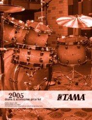 2005 Tama drum and hardware pricelist - Jedistar