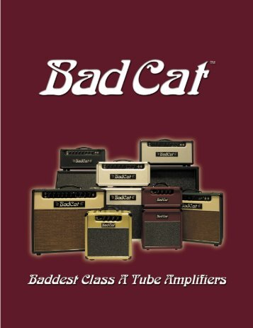 2004 Bad Cat amp catalog - Jedistar