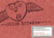 GITARRENEFFEKTE Produktkatalog 2010/2011 ... - ORION Effekte