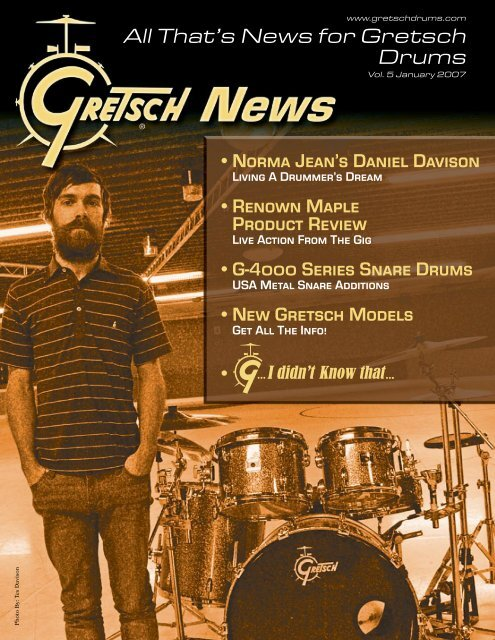 All That's News for Gretsch Drums