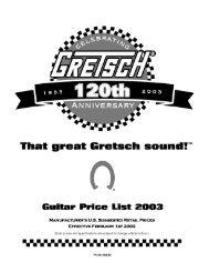 2003 Gretsch pricelist - Jedistar