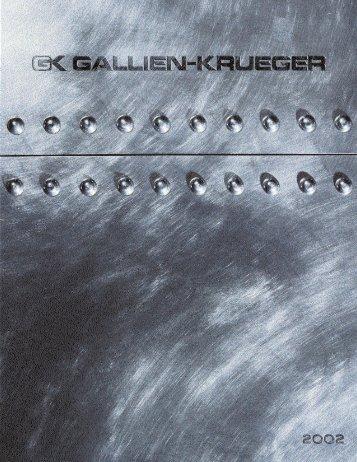 2002 Gallien Krueger catalog - Jedistar