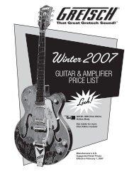 2007 Gretsch pricelist - Jedistar