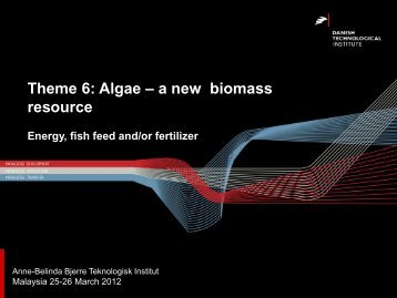 Theme 6: Algae – a new biomass resource - Biomass-SP
