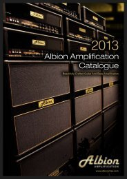 Albion Brochure 2013 - Albion Amps