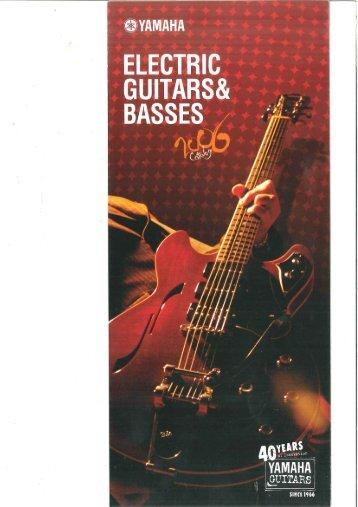 Yamaha Acoustic, Electric and Bass guitar catalog 2006 - Jedistar