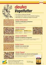 Vogelfutter - Deutsche Tiernahrung Cremer Gmbh & Co. KG