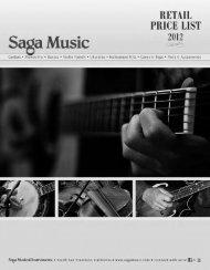 Saga price list 2012 - Jedistar