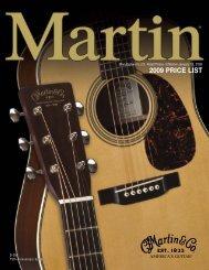 Martin 2009 Price List - AcousticMusic.org