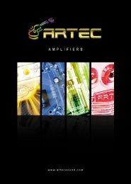 2013 Artec amp catalog - artec sound