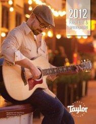 PRICE LIST & - Taylor Guitars