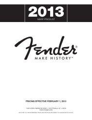 3 Fender MSRP Pricelist