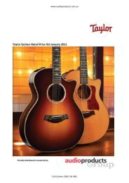 Taylor Guitars Retail Price list January 2011 - Jedistar