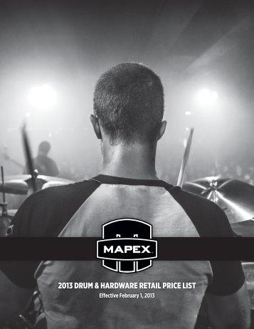 2013 DRUM & HARDWARE RETAIL PRICE LIST - Mapex Drums