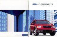 2005 Ford Freestyle Brochure - Jeff Young Design
