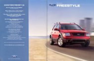 2006 Ford Freestyle Brochure - Jeff Young Design