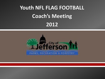 Youth NFL FLAG FOOTBALL Coach's Meeting 2012