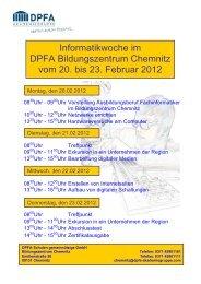 Informatikwoche im DPFA Bildungszentrum Chemnitz vom 20. bis ...