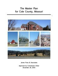 2010 Cole County Master Plan - City of Jefferson City