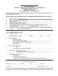 Mural Permit Application Packet - City of Jefferson City