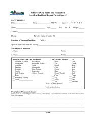 Accident/Incident Form - City of Jefferson City