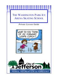 to download a copy of the private lesson guide. - City of Jefferson City
