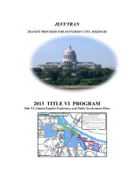 jefftran title vi program - City of Jefferson City