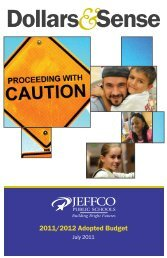 2011 -2012 Dollars & Sense Brochure - JEFFCO Public Schools