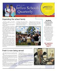 August 2010 - JEFFCO Public Schools